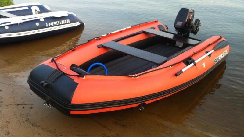 надувные лодки из пвх с надувным дном под мотор солар