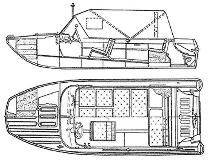 Схема лодки Казанка-5М4