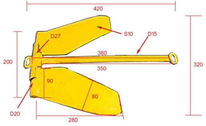 Схематический чертеж якоря